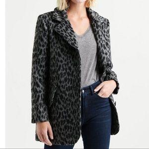 NWT Lucky Brand Animal Print Leopard Car Coat SzM